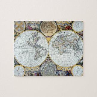 Puzzle Mapa del mundo antiguo, atlas Maritimus del