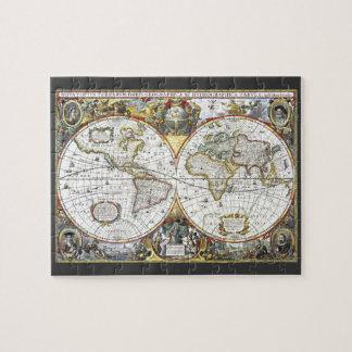 Puzzle Mapa del mundo antiguo de Hendrik Hondius, 1630
