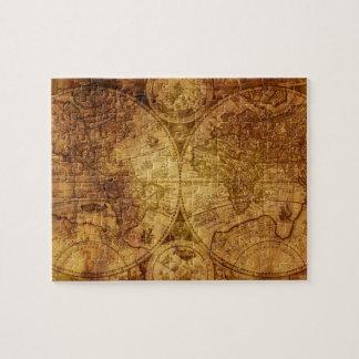 Puzzle Mapa del mundo antiguo viejo histórico