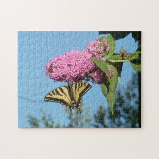 Puzzle Mariposa en la mariposa Bush