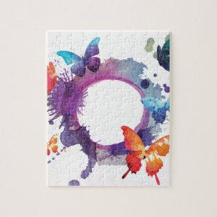Puzzle Mariposas en colores pastel de la acuarela