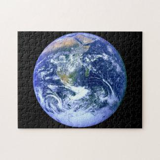 Puzzle Mármol del azul de la tierra