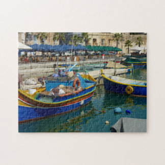 Puzzle Marsaxlokk pintó los barcos