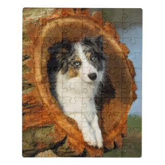 Puzzle Mascota azul de la fotografía de la cabeza de
