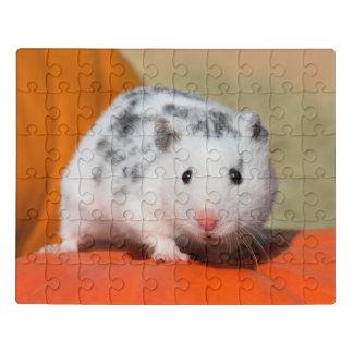 Puzzle Mascota divertido manchado negro blanco sirio