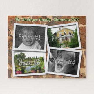 Puzzle Memorias de la familia 4 fotos de encargo