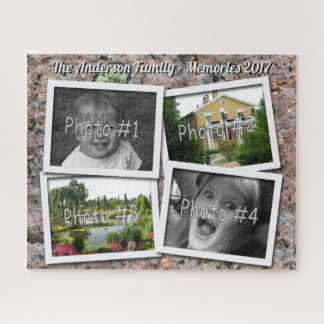 Puzzle Memorias de la familia 4 fotos de encargo de x en