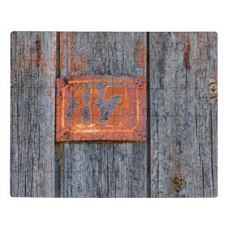 Puzzle _Metalizado oxidado de la foto de no. 87 del
