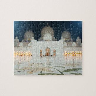 Puzzle Mezquita magnífica, Abu Dhabi, UAE, United Arab
