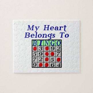Puzzle Mi corazón pertenece al bingo