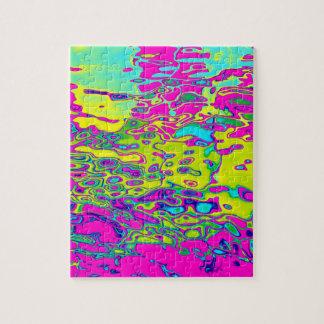Puzzle Modelo abstracto colorido loco brillantemente