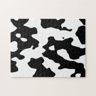 Puzzle Modelo de la vaca blanco y negro