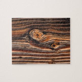 Puzzle Modelo de madera del grano