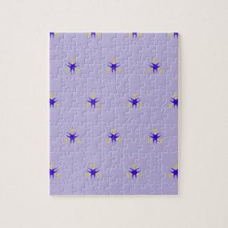 Puzzle Modelo delicado de la explosión de la púrpura de