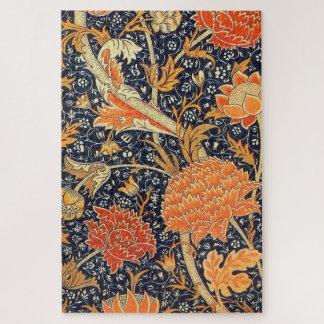 Puzzle Modelo floral de Nouveau del arte de William