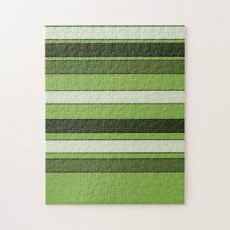 Puzzle Modelo horizontal verde de las rayas del verdor