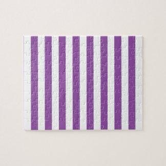 Puzzle Modelo púrpura y blanco de la raya