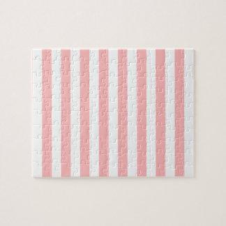 Puzzle Modelo rosado y blanco de la raya