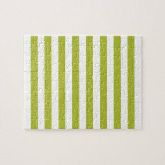 Puzzle Modelo verde y blanco de la raya