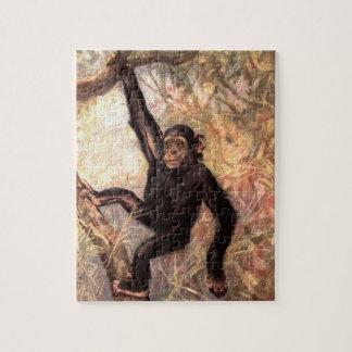 Puzzle Mono del chimpancé por el cisne del CE, animales