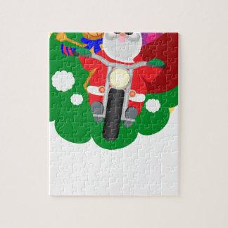 Puzzle Motorista Santa