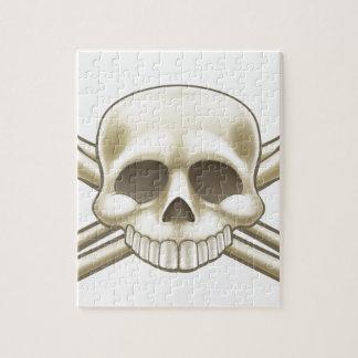 Puzzle Muestra del cráneo y del pirata de la bandera