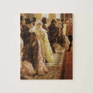 Puzzle Mujer de la moda por Tissot, arte del Victorian