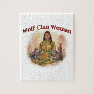 Puzzle Mujer del clan del lobo