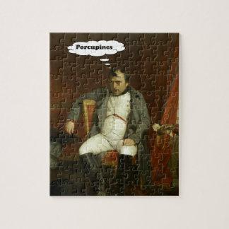 Puzzle Napoleon piensa en puercos espines