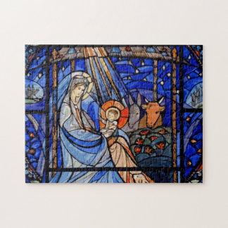 Puzzle Natividad del estilo del vitral