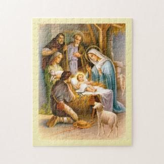 Puzzle Natividad del vintage
