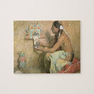 Puzzle Nativos americanos del vintage, Hopi Katchina por