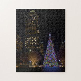 Puzzle Navidad en la noche del parque de Warren