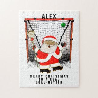Puzzle navidad personalizado del lacrosse
