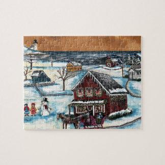 Puzzle Navidad primitivo de Nueva Inglaterra
