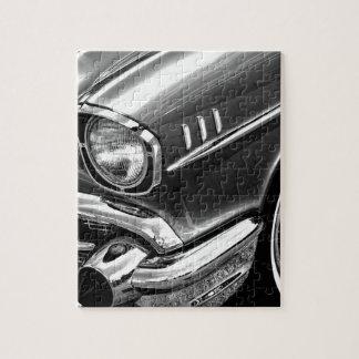 Puzzle Negro 1957 y blanco del Bel Air de Chevrolet