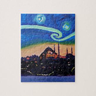 Puzzle Noche estrellada en Estambul Turquía
