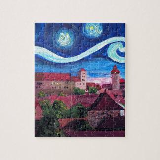 Puzzle Noche estrellada en Nuremberg Alemania con el
