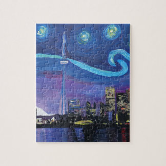 Puzzle Noche estrellada en Toronto con las inspiraciones