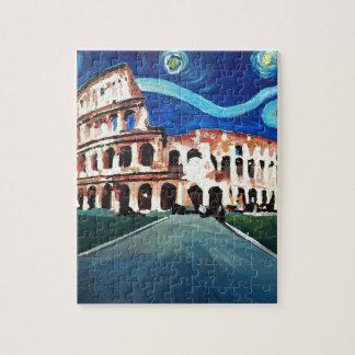 Puzzle Noche estrellada sobre Colloseum en Roma Italia