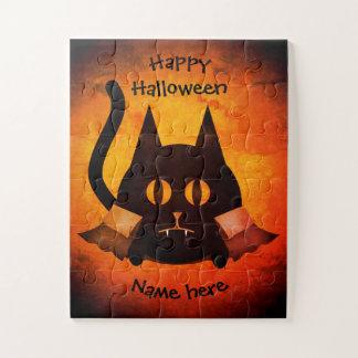 Puzzle Nombre del gato del vampiro de Halloween