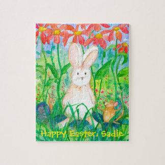 Puzzle Nombre feliz del personalizado de Pascua del