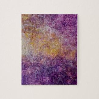 Puzzle Nube amarilla y púrpura abstracta, diseño colorido