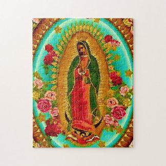 Puzzle Nuestro Virgen María mexicano del santo de señora