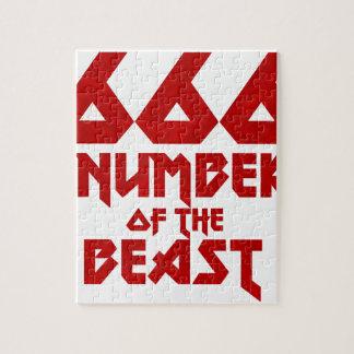 Puzzle Número de la bestia