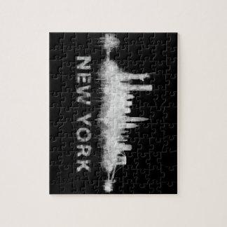 Puzzle NYC New York black-White Skyline cityscape v01