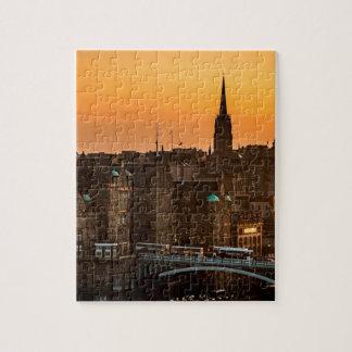 Puzzle Ocaso del horizonte de Edimburgo