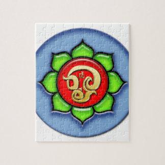 Puzzle OM (Tamil) rojo, verde, azul