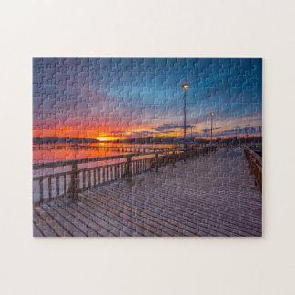 Puzzle Opinión 11x14 de la puesta del sol del paseo