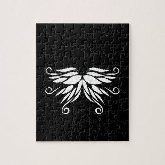 Puzzle Ornamentos blancos negros del Nordic de Siberia